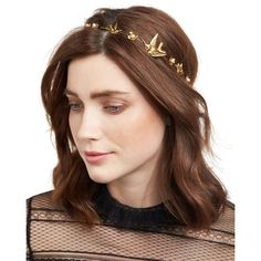 Jennifer Behr Wren Floral Swarovski& Pearl Bandeau Headband (19,935 PHP) ❤ liked on Polyvore featuring accessories, hair accessories, gold, swarovski crystal headband, head wrap hair accessories, flower headbands, jennifer behr and flower hair accessories