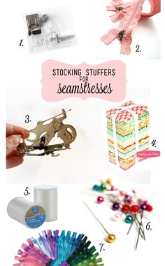 see kate sew: stocking stuffer ideas for people who sew. ;) ( I would squeal like a child to find Lacey zippers or colourful machine-embroidery thread in my stocking!)
