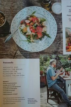 Classic Italian Panzanella Recipe. Side Dish. From The Simple Things Magazine.