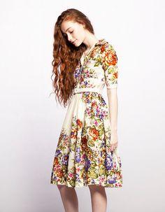 MARIA - shirtwaist dress made of woolen shawl by Mrs Pomeranz. £299.00, via Etsy.