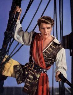 "Burt Lancaster - ""Vallo"" in ""Der rote Korsar"" Golden Age Of Hollywood, Hollywood Stars, Classic Hollywood, Old Movie Stars, Classic Movie Stars, Old Movies, Vintage Movies, Burt Lancaster Movies, Pirate Movies"