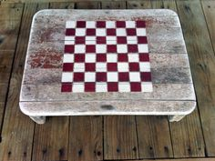 Checkers Game Board  on Reclaimed driftwood. Father's day?