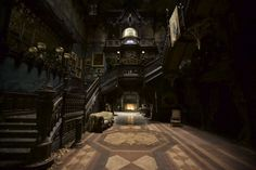 """Crimson Peak"" - Set design by Guillermo del Toro and Tom Sanders, Photographs by Kerry Hayes for Architectural Digest Architectural Digest, Gothic Interior, Interior And Exterior, Interior Design, Hall Interior, Thomas Sanders, Gothic Architecture, Interior Architecture, Ancient Architecture"