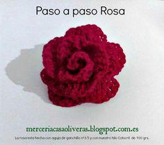 Casa Oliveras: Rosa a ganchillo para Sant Jordi
