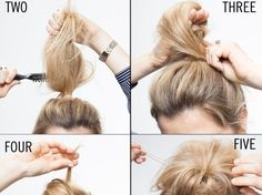 This is how I do my buns, works every time :-)