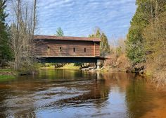 Fisher's Covered Bridge - Chippewa River ,  Michigan's Isabella County by Michigan Nut,