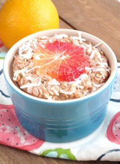 Blood Orange and Coconut Baked Oatmeal | The Oatmeal Artist