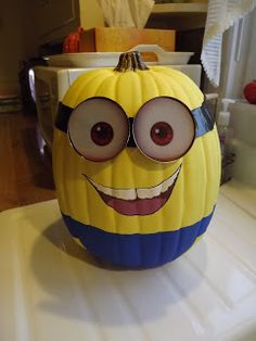 Life...Inside the Page: Craft: Making my own Minion Pumpkin