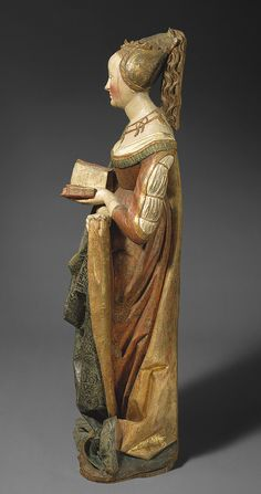 Saint Barbara ca 1490 [German, probably Strasbourg, Alsace (present-day France)] (55.166) | Heilbrunn Timeline of Art History | The Metropolitan Museum of Art