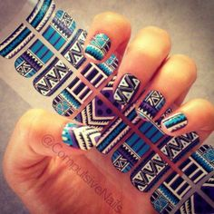 Tribal Fringe nail decals