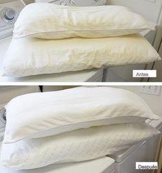 La de los truquillos: Quitar manchas amarillas de sudor de la almohada, funda y sábanas.