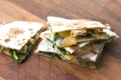 Pesto Chicken Quesadilla  Pesto Chicken Quesadilla