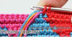 Aprende a tejer en técnica Tapestry a crochet / tutorial