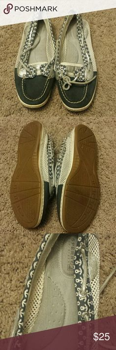 Sperry Topsiders Anchor Pattern Boat Shoes Sperry Topsiders Anchor Pattern Boat Shoes! Size 7.5. EUC. Sperry Top-Sider Shoes