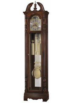 611-070 Duvall, Howard Miller Grandfather Clock, Windsor Cherry Finish