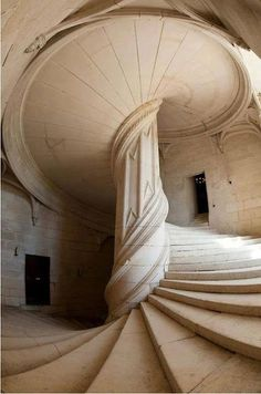 De Vinci Staircase, La Rochefoucald, France shared by Sherrly Juarez-Givens