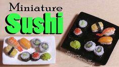 Miniature Sushi Tutorial - Polymer Clay