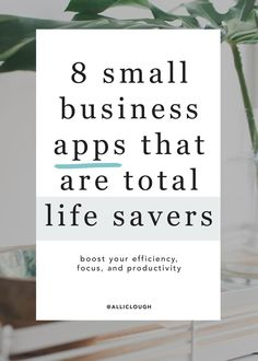 """8 Small Business Apps That Are Total Life Savers If you've ever asked yourself """"where did the day go"""" then this is for you. Here are 8 small business apps that are total life savers. I promise they will boost your efficiency, focus, and productivity. Small Business Resources, Business Advice, Business Planning, Small Business Plan, Bookkeeping For Small Business, Small Business Accounting, Starting A Business, Opening A Small Business, Easy Business Ideas"""