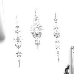 Boho Tattoos, Dainty Tattoos, Unique Tattoos, Small Tattoos, 21 Tattoo, Unalome Tattoo, Spine Tattoos For Women, Back Tattoo Women, Women Sternum Tattoo