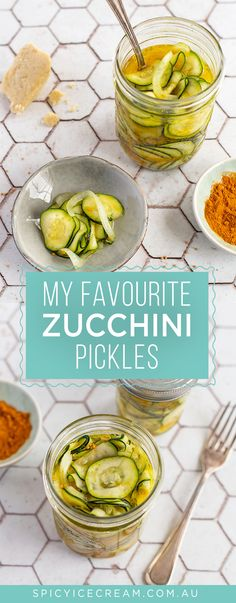 Women's Special: Four-Strategies Flowers Can Modify Your Working Day-To-Day Lifestyle These Zucchini Pickles Are Perfect On Burgers, Sandwiches, Salads Or Cheese Boards And The Perfect Introduction To Preserving At Home. Healthy Snacks, Healthy Eating, Healthy Recipes, Savoury Recipes, Healthy Life, Canning Recipes, Kitchen Recipes, Zucchini Pickles, Pickled Zucchini