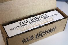 Making Up the Midwest: Gift Idea + GIVEAWAY: Old Factory Candles | Fall Harvest Trio