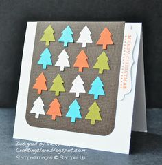 Contemporary Merry Minis Christmas trees - Stampin Up ideas and supplies from Vicky at Crafting Clares Paper Moments