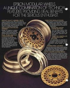 """43 Likes, 1 Comments - TheTurboTimes (@theturbotimes) on Instagram: """"Real thing from 80's #epsilon #wheels #custom #racing #chrome #gold #euro #tuner #wide #12j…"""""""
