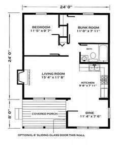 Add to the living room area...make bunk room into laundry room. Scoot kitchen down and create a foyer between vanity and kitchen.