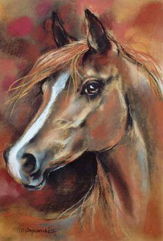 horses art painting