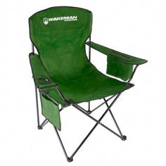 This portable Wakeman Camping Chair will ensure that you always have the best seat available. This folding chair features a cup holder and cooler pouch, ideal for camping, sporting events, your backyard or tailgating. Folding Camping Chairs, Folding Chair, Backyard Cookout, W 6, Waterproof Fabric, Go Camping, Beach Trip, Bag Storage, Outdoor Chairs