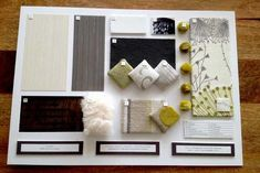 horizontal materials presention interior design boards - Yahoo Image Search Results