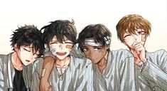 The Gosho Boys _ Artist: Kkakk_a Manga Detective Conan, Detective Conan Shinichi, Conan Comics, Detektif Conan, Anime Guys, Manga Anime, Anime Art, Magic Kaito, Heiji Hattori