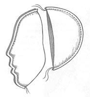 one cut embossed head. Good directions from a Russian site for making a beautifully-shaped head.