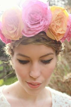 Wear The Canvas: Coffee Filter Roses + Flower Crown DIY