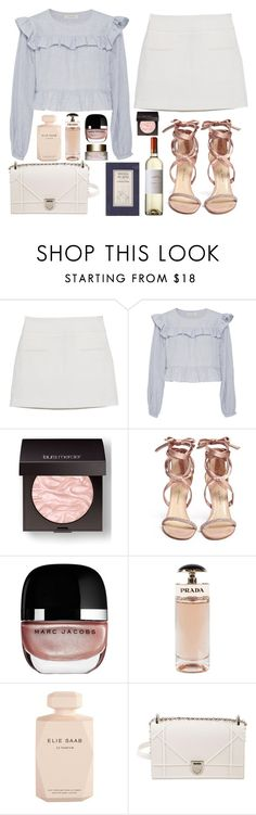 """""""ANDREW"""" by mariimontero ❤ liked on Polyvore featuring MANGO, Jill Stuart, Laura Mercier, Paul Andrew, Marc Jacobs, Prada, Elie Saab, Christian Dior and Clarins"""