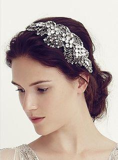 【JENNY PACKHAM】 ビジューカチューシャ Acacia Headdress II Crystal - The Best Day