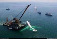 This airplane was sunk 22 meters deep into the Black Sea. | See More Pictures