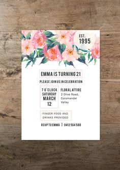 Boho Chic printable invitation and address card by RMcreative