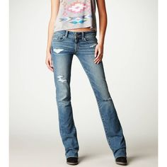 American Eagle Outfitters Original Boot Jean ($30) ❤ liked on Polyvore