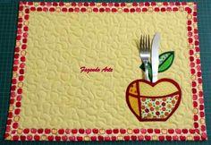 Jogo americano maçãs