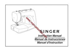 Singer 2932 Sewing Machine Instruction Manual.  Examples of what's included in this manual:  * Threading the machine. * Winding and Threading the bobbin. * Regulating the thread tension. * Automatic Needle Threader. * The Even feed Foot Accessory. * Maintenance.  86 page manual.
