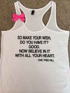 Make a Wish - One Tree Hill Tank - Ruffles with Love - RWL - Bow Tank #onetreehill