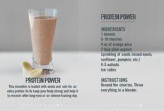 Post workout protein smoothie