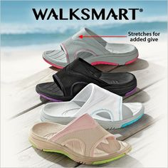 Make a splash with WalkSmart water-friendly sport sandals. Are you pool ready?