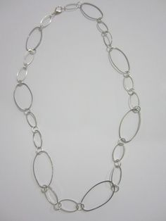 Classy Oval Handmade Silver Necklace