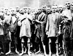 Prisioners in Auswitz concentratiekamp
