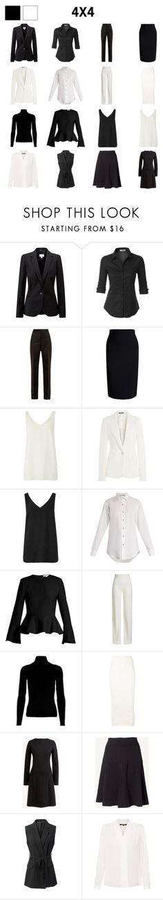"""black and white capsule"" by lenamis on Polyvore featuring Pure Collection, LE3NO, Maison Margiela, Roland Mouret, Off-White, Elizabeth and James, Brandon Maxwell, Yeezy by Kanye West, J.Crew and Fat Face"