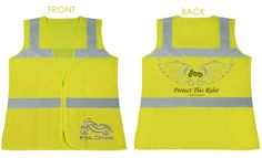PROTECT THIS RIDER Ladies Hi-Viz Yellow Reflective Safety Vest by Steel Cowgirl