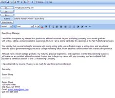 Sneidng Email Resume And Cover Letter Sample on