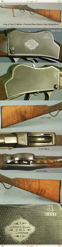 Army & Navy Francotte action 22 hornet